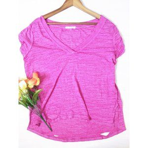 We the Free   Purple V-Neck Top